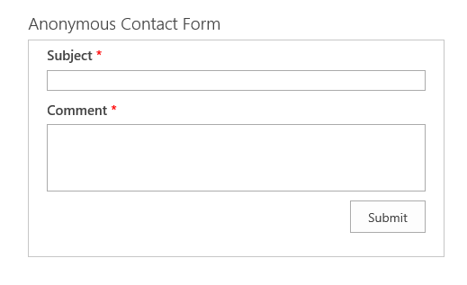 Anonymous Contact Form