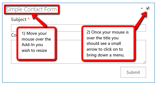 Simple Contact Form Step1