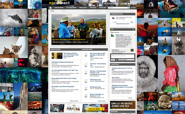 Code A Site loves National Geographic's intranet site