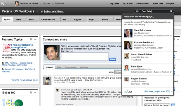 Code A Site loves IBM's intranet site.