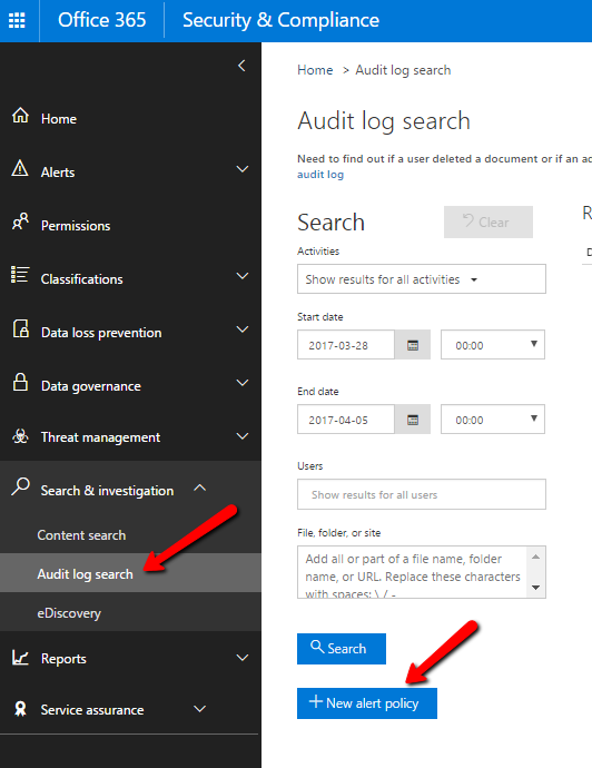 New alert policy notifies you regularly about your SharePoint Security