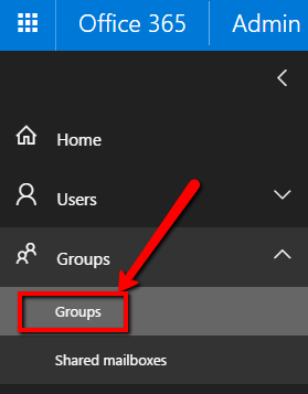 Select Groups within Office 365 to enhance SharePoint security