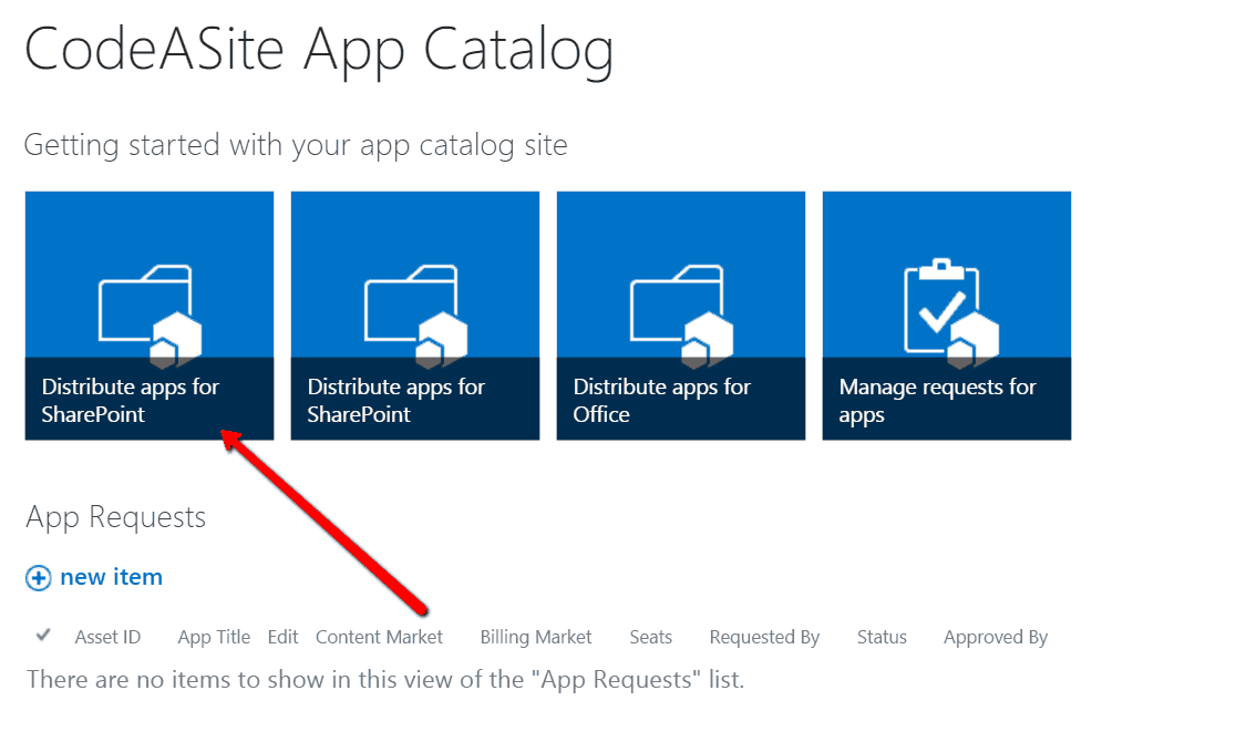 add app to SharePoint