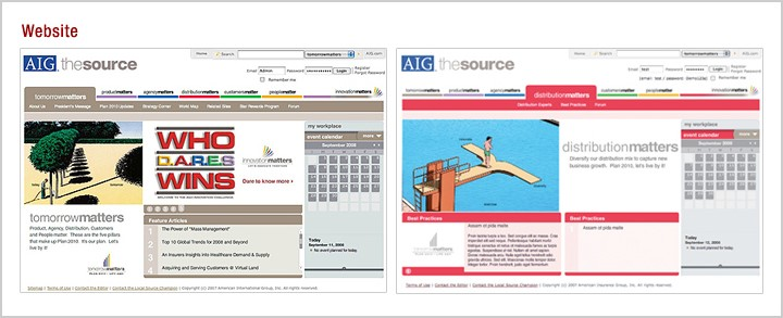 AIG's intranet site looks pretty good to Code A Site!