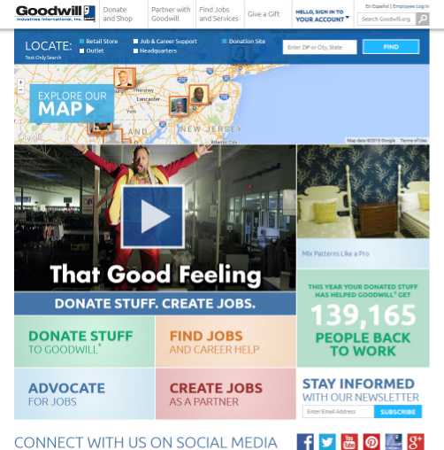 Goodwill Industries International has a great intranet site. Code A Site thinks so!